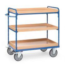 fetra etagewagen met opstaande randen en voorzien van drie verstelbare etages