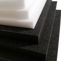 Plastazote LD24 zwarte en witte schuimvellen op maat worden ook museum art foam of maf genoemd
